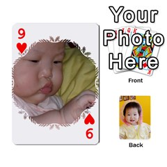 1 By Jenqyeu1   Playing Cards 54 Designs (rectangle)   F3u68ygw80e4   Www Artscow Com Front - Heart9