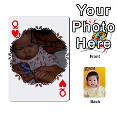 Queen 1 By Jenqyeu1   Playing Cards 54 Designs (rectangle)   F3u68ygw80e4   Www Artscow Com Front - HeartQ