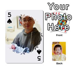 1 By Jenqyeu1   Playing Cards 54 Designs (rectangle)   F3u68ygw80e4   Www Artscow Com Front - Spade5