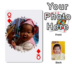 Queen 1 By Jenqyeu1   Playing Cards 54 Designs (rectangle)   F3u68ygw80e4   Www Artscow Com Front - DiamondQ