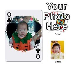 Queen 1 By Jenqyeu1   Playing Cards 54 Designs (rectangle)   F3u68ygw80e4   Www Artscow Com Front - ClubQ
