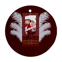 Xmas By Debe Lee   Round Ornament (two Sides)   Xdaa6oo4oop8   Www Artscow Com Front