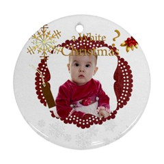Xmas By Debe Lee   Round Ornament (two Sides)   Ides8z0bq461   Www Artscow Com Front