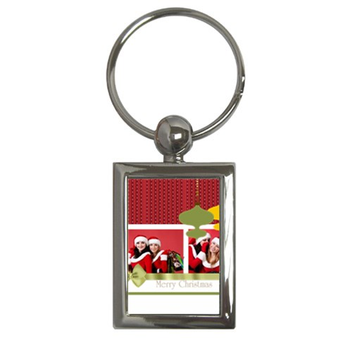 Xmas By Debe Lee   Key Chain (rectangle)   Jprxpbxalu2s   Www Artscow Com Front