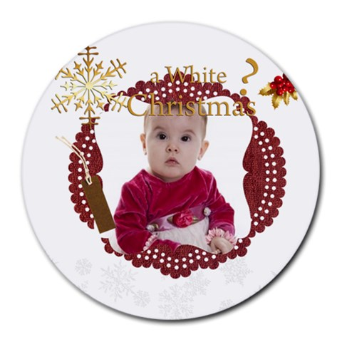 Xmas By Debe Lee   Round Mousepad   Dzi3gxitvgjd   Www Artscow Com Front