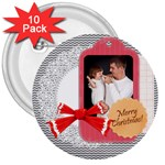 xmas - 3  Button (10 pack)