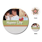 happy life - Playing Cards (Round)