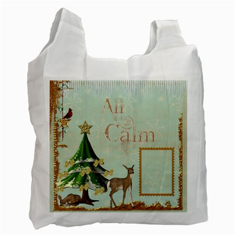 All Is Calm Recycle Bag By Catvinnat   Recycle Bag (one Side)   R3609gq4t6cf   Www Artscow Com Front