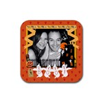 Boo!  Halloween Coaster - Rubber Coaster (Square)