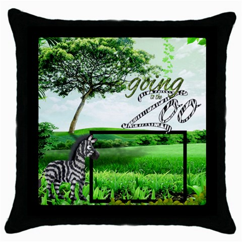 Zebra Throw Pillow By Catvinnat   Throw Pillow Case (black)   A7mzbdubndfe   Www Artscow Com Front