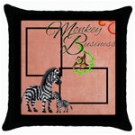 Elephants Throw Pillow - Throw Pillow Case (Black)