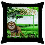 Jungle Rock  Throw Pillow - Throw Pillow Case (Black)