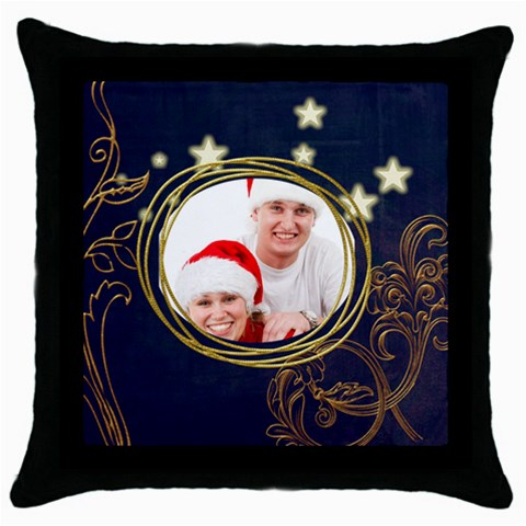 Santa Couple  Throw Pillow By Catvinnat   Throw Pillow Case (black)   Vhtkm1t2vtzz   Www Artscow Com Front