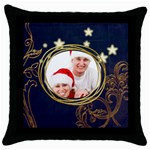 Santa Couple  Throw Pillow - Throw Pillow Case (Black)