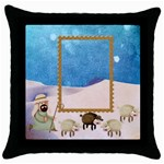 Shepherds  Throw Pillow - Throw Pillow Case (Black)