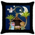 Nativity  Throw Pillow - Throw Pillow Case (Black)