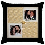 Rosa Throw Pillow - Throw Pillow Case (Black)