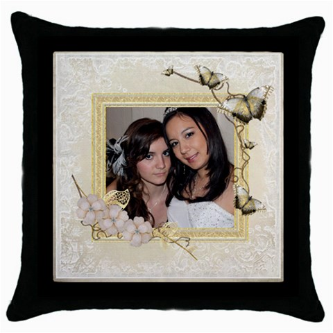 Butterfly Throw Pillow By Catvinnat   Throw Pillow Case (black)   Tzyeduuicjad   Www Artscow Com Front