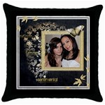 L Amour  Throw Pillow 2 - Throw Pillow Case (Black)