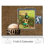 2013 for Grandpa - Wall Calendar 11  x 8.5  (12-Months)