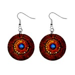 Mandella 1  Button Earrings