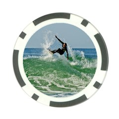 Serious Surfer Poker Chip Card Guard from ArtsNow.com Front