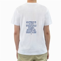 March Of Dimes By Molly Middleton   Men s T Shirt (white) (two Sided)   Ok6v6j1u5q73   Www Artscow Com Back