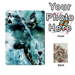 Ace League Cards :d By Keane   Playing Cards 54 Designs (rectangle)   W07dphokiou1   Www Artscow Com Front - SpadeA