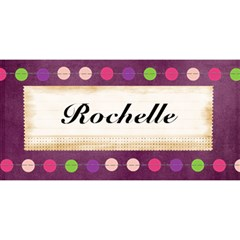 Rochelle Card By Kiarne Randall   Happy Birthday 3d Greeting Card (8x4)   3y3ppzob90qi   Www Artscow Com Front