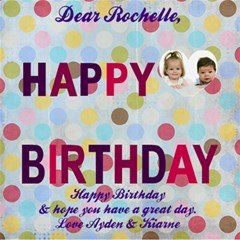 Rochelle Card By Kiarne Randall   Happy Birthday 3d Greeting Card (8x4)   3y3ppzob90qi   Www Artscow Com Inside