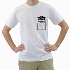 Shirt   Descartes By Matematicaula   Men s T Shirt (white) (two Sided)   P48qdzpwrk7z   Www Artscow Com Front