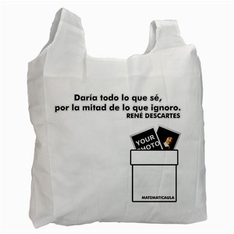 Bolsa   Descartes By Matematicaula   Recycle Bag (one Side)   9lk5mehx4vuf   Www Artscow Com Front