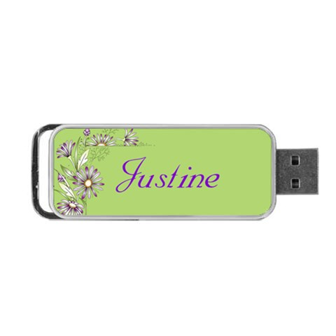Floral Portable Usb Flash By Deborah   Portable Usb Flash (one Side)   H1gulf5s7j0e   Www Artscow Com Front