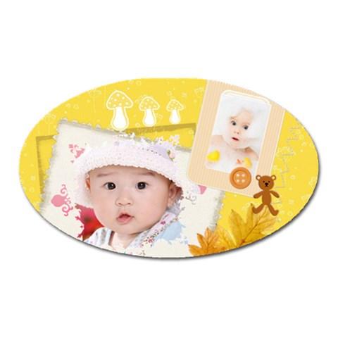 Baby By Joanne5   Magnet (oval)   5i240d26uken   Www Artscow Com Front