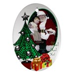 Christmas Oval Ornament (2 sided) - Oval Ornament (Two Sides)