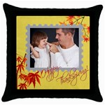 fall - Throw Pillow Case (Black)
