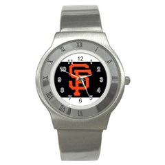 Sf Giants Logo Stainless Steel Watch (round)