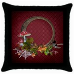 autumn fun pillow case - Throw Pillow Case (Black)