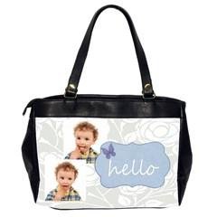 Xmas By Jo Jo   Oversize Office Handbag (2 Sides)   Mtni8wgdvrlm   Www Artscow Com Back