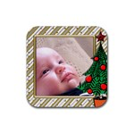 Little Christmas Coaster - Rubber Coaster (Square)