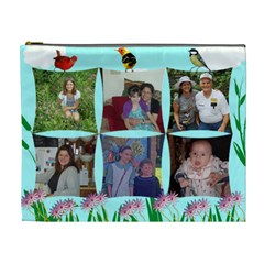 Wild Flower And Birds Cosmetic Bag (xl) 2 Sides By Kim Blair   Cosmetic Bag (xl)   W6tqlrl01uel   Www Artscow Com Front