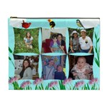 wild flower and Birds Cosmetic Bag (XL) 2 sides