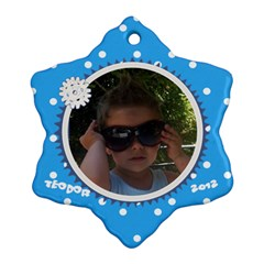 Teo   Snowflake Ornament By Asen   Snowflake Ornament (two Sides)   Hvuofx2kw5n3   Www Artscow Com Front