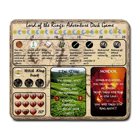 Lotr Adventure Card Game Play Mat By Ryan Byrd   Large Mousepad   N3mcf7pihmjy   Www Artscow Com Front