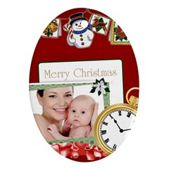 Xmas By Jo Jo   Oval Ornament (two Sides)   1jy64ntocxcv   Www Artscow Com Front