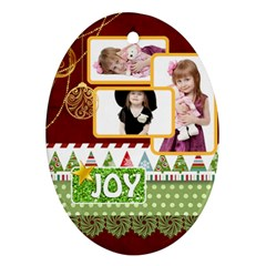 Xmas By Jo Jo   Oval Ornament (two Sides)   Anfu2i3ysfkv   Www Artscow Com Back