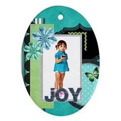 Xmas By Jo Jo   Oval Ornament (two Sides)   5moojhu48awr   Www Artscow Com Back