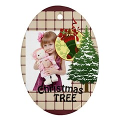 Xmas By Jo Jo   Oval Ornament (two Sides)   Cvj449degajm   Www Artscow Com Back