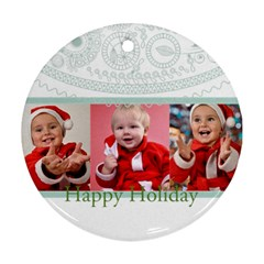Xmas By Man   Round Ornament (two Sides)   8e9xypqjvls3   Www Artscow Com Front