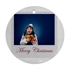 Xmas By Man   Round Ornament (two Sides)   Y0obdir3qwar   Www Artscow Com Back
